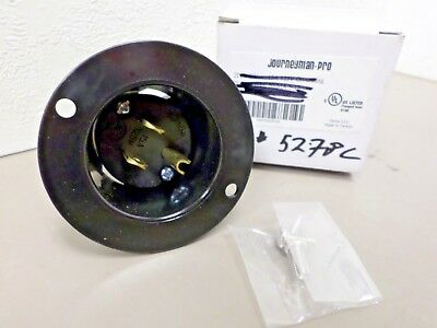 Journeyman-Pro 5278C 5-15P Flanged Power Inlet 15 AMP 125V