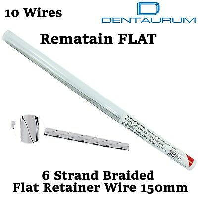 Dental Orthodontic Dentaurum Rematain Flat 6 Strand Braided Retainer Wire 150mm