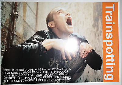 "Trainspotting (1996) UK reproduction film poster (25""x 35"") ""Brilliant"""