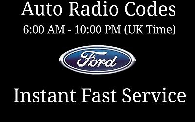 Ford Radio Code V Series M Series Sony Visteon Focus Fiesta Transit Van Key Code