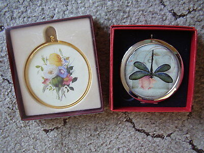 2 x Small Gift Items.Double Handbag Mirror plus a Peter Bates Miniature Boxed