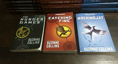 HUNGER GAMES Trilogy 3 Book Mixed Set Complete Series Suzanne Collins FREE SHIP