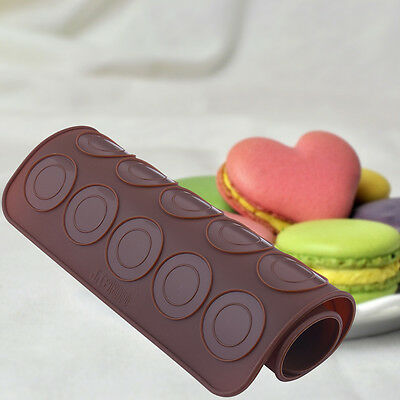 30-cavity Silicone Pastry Cake Macaron Pad Macaroon Oven Baking Mould Sheet Mat