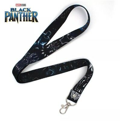 Black Panther Classic  Lanyard Marvel The Avengers Keychain Black Panther Comic