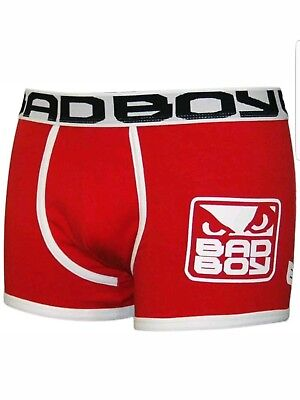 Bad Boy MMA Elite Underwear Boxer Shorts - Size MEDIUM(RED) New with tags