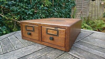 Globe Wenicke vintage retro wooden oak index drawers filing desk top