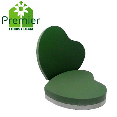 Premier® WET FLORAL FOAM,PLASTIC/FOAM BACKED RING, CROSS HEARTS. packs of 2.