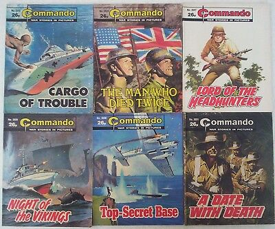 Lot Q. SIX x COMMANDO War Picture comics #'s 2029 - 2047. Dated 1986.