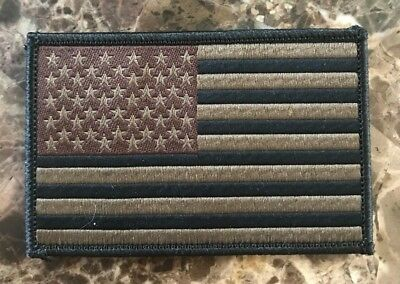"""BuckUp Tactical Morale Patch Hook USA US Flag Coyote Black 3x2"""" Patch #22"""