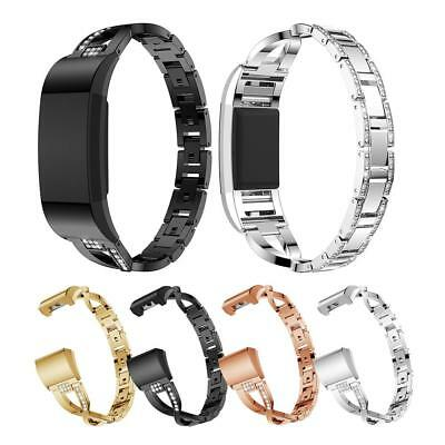 Metal Alloy Band Replacement Wristband Watch Strap Bracelet for Fitbit Charge 2