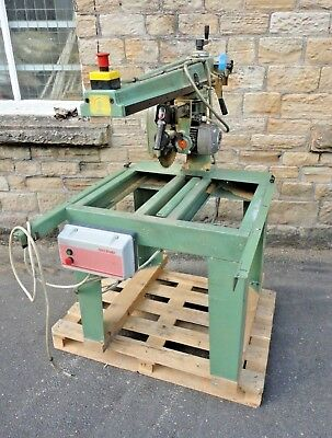 Maggi Junior 640 Ce Radial Arm Cross Cut Saw With Universal Head 3Phase Dc Brake