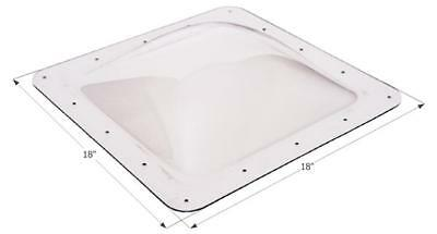 """RV Skylight 4"""" Bubble Type Square 14""""x 14"""", 18"""" x 18"""" Width Flange, Clear"""