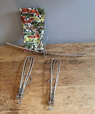 Vintage 1940s 50s Travel Foldable Weekend Holiday Buisness Coat Hangers in Pouch