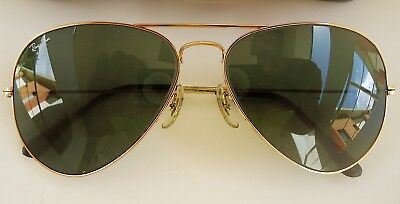 Vintage 1983 Ray-Ban Bausch & Lomb Gold Plated Aviator All-Time Classic U.S.A.