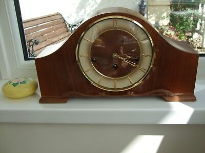 lovely Condition Mantel Clock Westminster chimes with Franz Hermle Movement