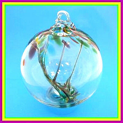 """Hanging Glass Ball 4"""" Diameter """"Carnivale Tree"""" Witch Ball (1) WB25"""