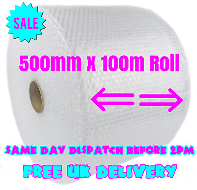 500mm x 100m Small Bubble Wrap Cushioning Quality Bubble 100 meters long roll