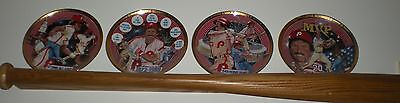 Mike Schmidt Philadelphia Phillies 4 Plate Gold Collection with Bat Display