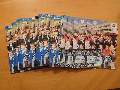 Cardiff City Home Programmes 1993/94