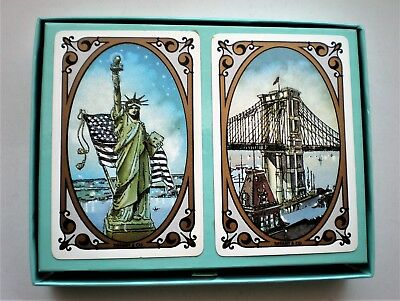 Vintage TIFFANY & CO. Commemorative New York Playing Cards In Original Box $95