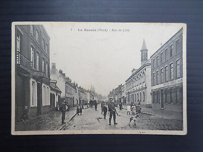 France  Cpa  La Bassee  ( Nord )  Rue De Lille  Animee  Voyagee  17 / 12 / 1905