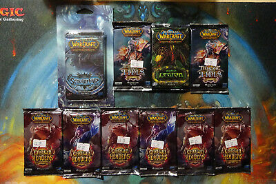 Warcraft TCG CCG Card - TEN Sealed Booster Packs - Crown of Heavens + More