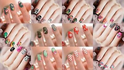 12 Nagel Folien Nail Wraps Strips Aufkleber Sticker