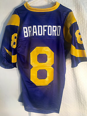 designer fashion af65e e731b REEBOK NFL JERSEY St. Louis Rams Sam Bradford Blue Throwback ...