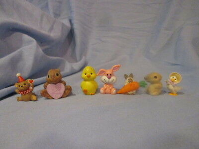 Vintage Grouping of Hallmark and Russ Berrie Easter merry miniature figurines