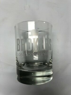 Brokers London dry gin rocks glasses off with lettering, 24 available