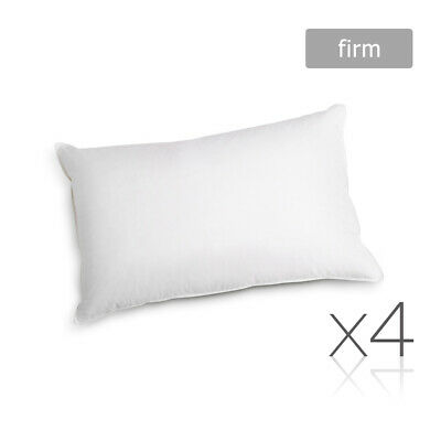 4 x Bed Pillows Set Soft Firm Cotton Cover Family Hotel