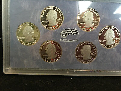 2009-S Six Coin Territory Proof Quarter Set In Sealed Holder No Box Or Coa