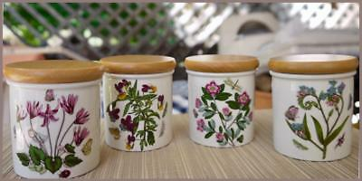 Botanic Garden SPICE JARS by PORTMEIRION - Made in Britain - Set of Four