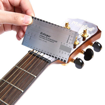 String Action Gauge Ruler Guide Setup Guitar Measuring Luthier Tool