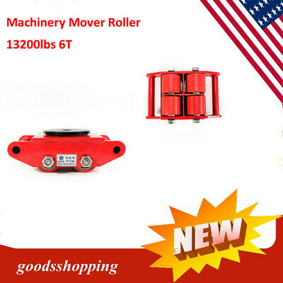 360° Industrial Machinery Mover 6T 13200lb Heavy Duty Machine Dolly Skate Roller
