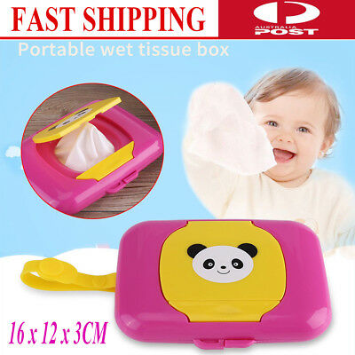 1xSilicone Wet Tissue Paper Box Baby Wipes Storage Holder Container Houseware AU