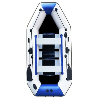 7.5ft Inflatable Boat Raft Fishing Dinghy Tender Pontoon Boat With-Alloy