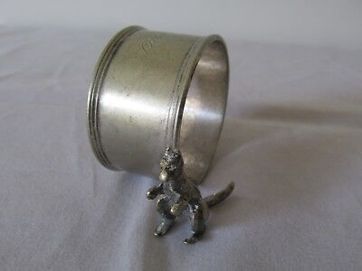 Vintage EPNS Silver Plated Napkin Ring with Kangaroo Serviette Ring