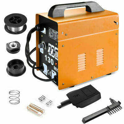 MIG 130 Welder Gas Less Flux Core Wire Automatic Feed Welding Machine 120A 230V