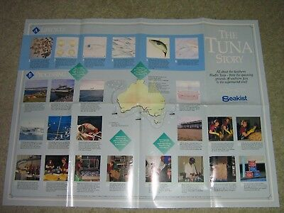 """Vintage 80s """"THE TUNA STORY"""" POSTER BY SEAKIST"""
