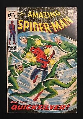 The Amazing Spider-Man #71! Quicksilver Appearance! 1969! Vg/fn! No Reserve!