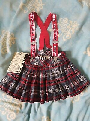 John Galliano Baby Girl Tartan Skirt With Braces 6 months old baby