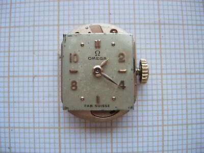 Petit mouvement Omega Cal. 244 montre dial watch lady swiss N1