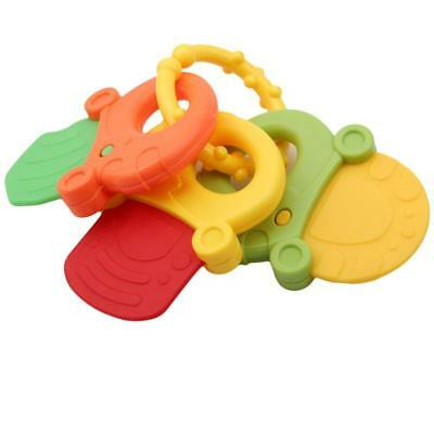 1Set Baby Infant Rattle Bite Teething Keys Chewing Teether Toy Gift JAZZ