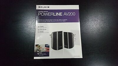 Belkin Powerline Av 200 Hd Wired Network Adapter