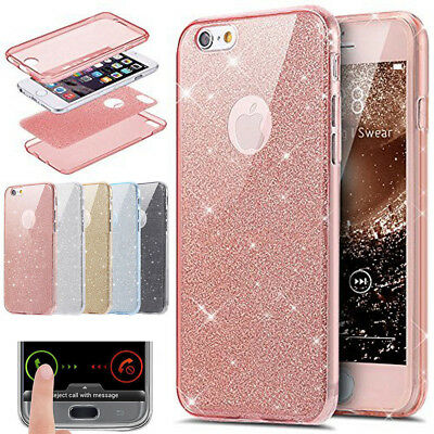 Shockproof Full Protect Clear Bling Shining Case Cover For iPhone X 6 7 8 Plus