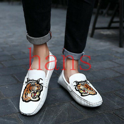 Fashion Men Casuals Loafers Slip On Flats Driving Shoes Comfy Embriidery  Gommino be424feaeeb