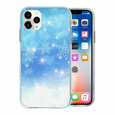 Silicone Phone Case Back Cover Winter Ice Snow - S4450