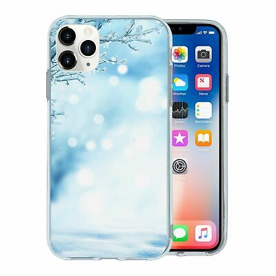 Silicone Phone Case Back Cover Winter Ice Snow - S4432