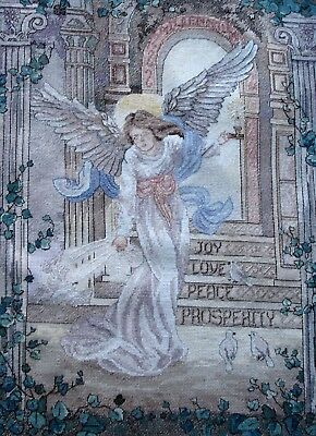 Dimensions Gold Completed Counted Cross Stitch Unframed Picture Millennium Angel
